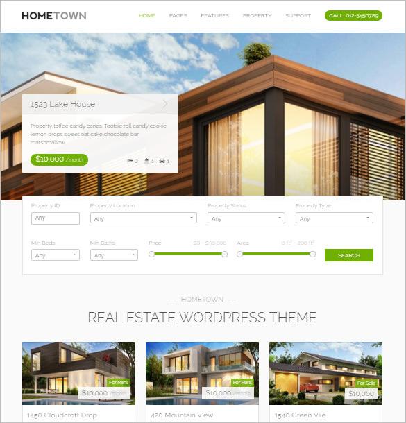 Free Real Estate Wordpress Theme - brandsabc